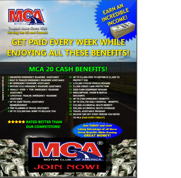Extra income work join 4 corners alliance group and Motor club of america careers
